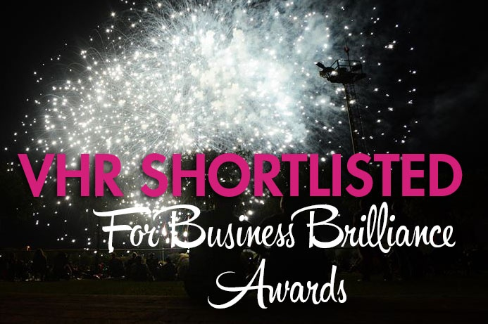 VHR shortlisted in the Business Brilliance Awards