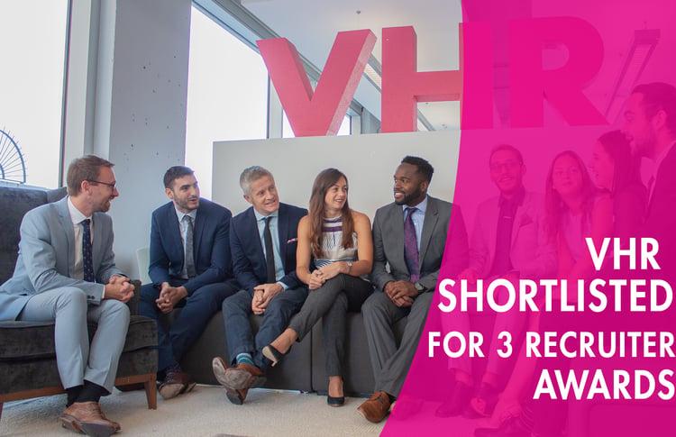 shortlisted for 3 recruiter awards