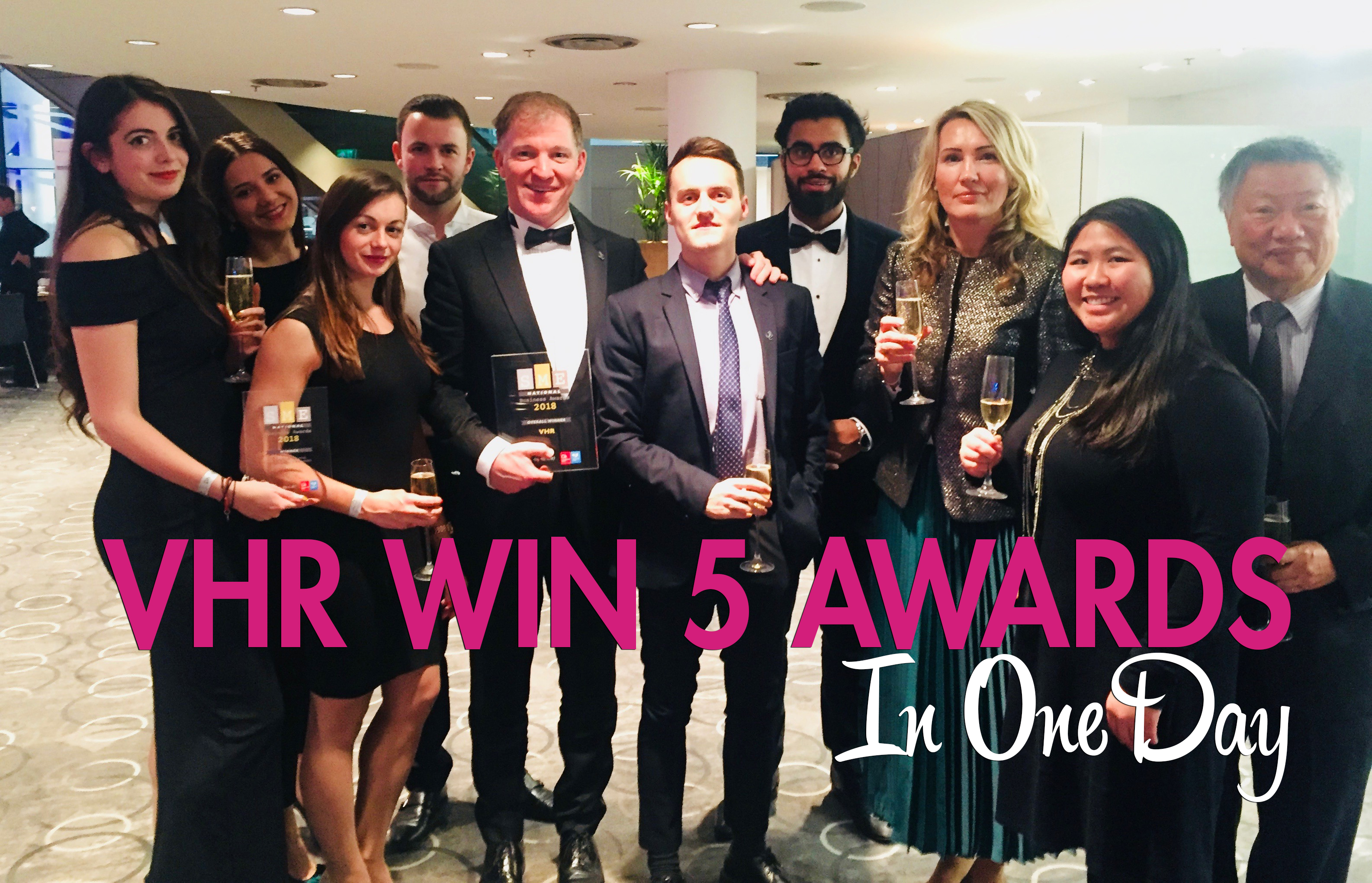 vhr win 5 awards in 1 day