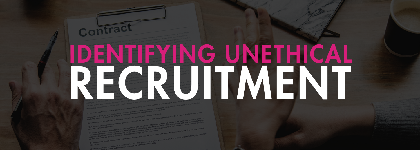 How to spot unethical recruitment